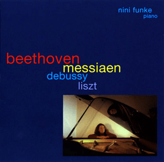 CD Cover - Nini Funke - Beethoven, Messiaen, Debussy, Liszt